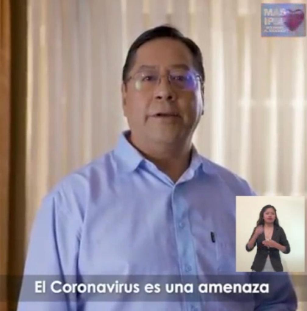 Arce Catacora exhorta a los Bolivianos a combatir en unidad al coronavirus