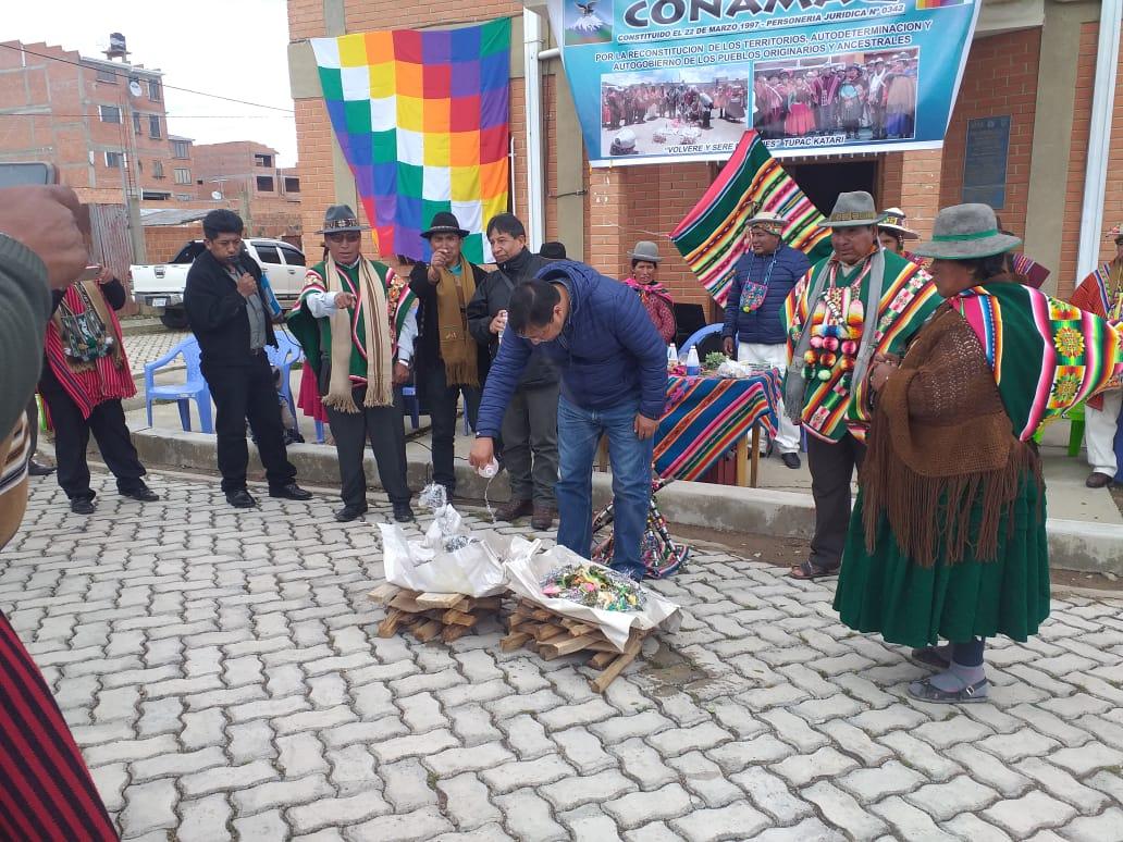 Con una ofrenda a la pachamama CONAMAQ celebró su aniversario