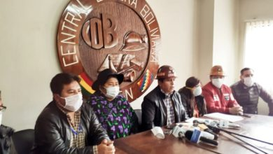 Photo of La COB denuncia que el gobierno de Añez esta poniendo en riesgo la jubilación de los trabajadores aprovechando la cuarentena