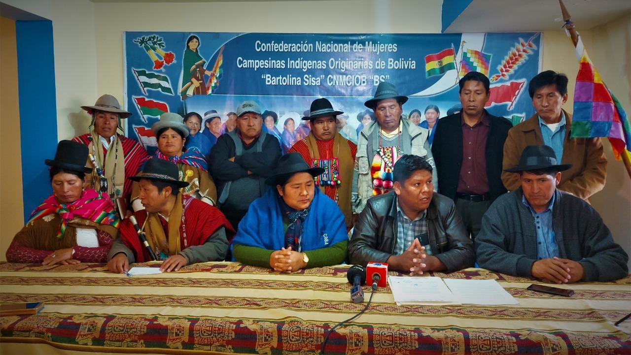El Pacto  de Unidad convoca  a un Ampliado Nacional para evaluar los resultados de las elecciones y la continuidad del proceso de cambio