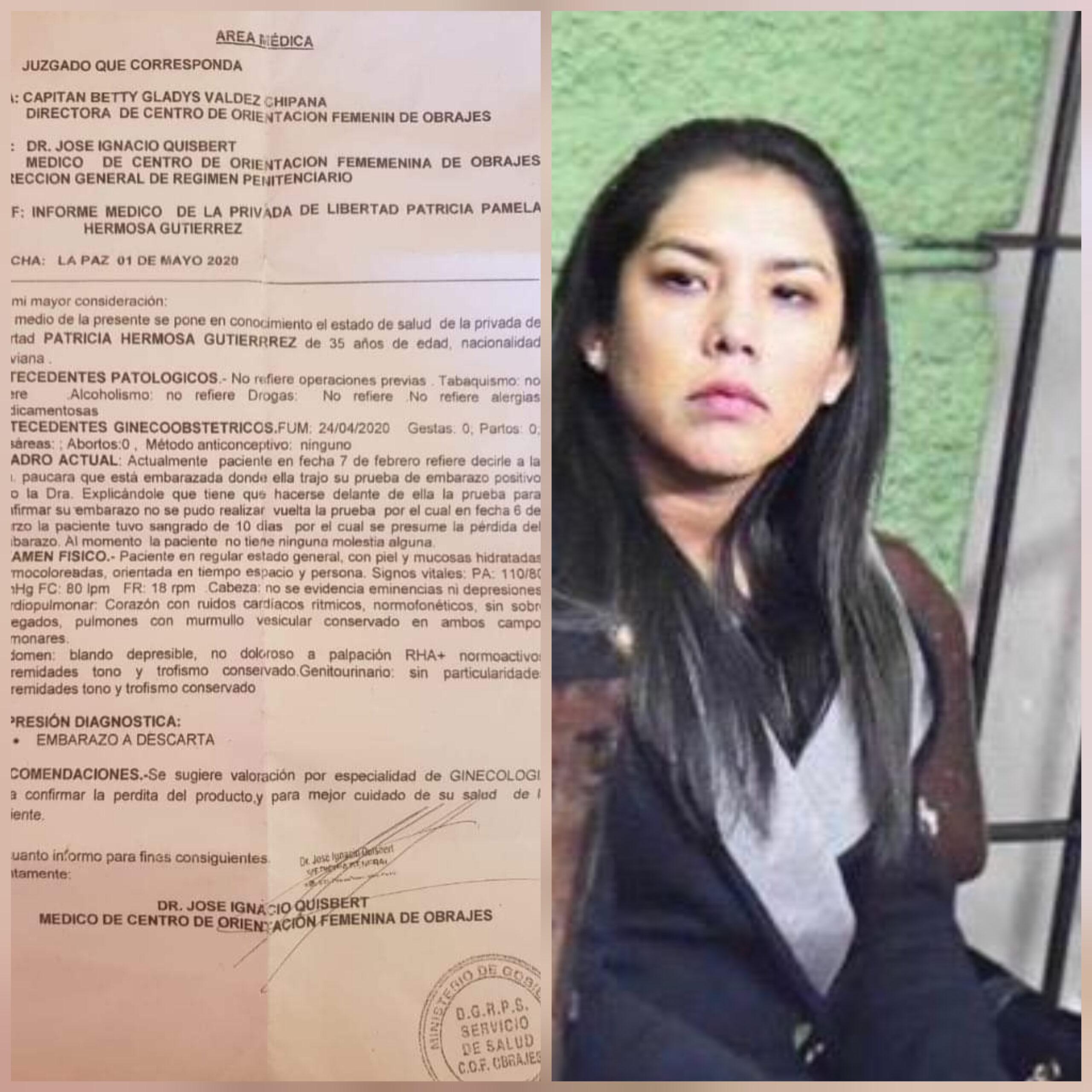 Photo of Patricia Hermosa ex Jefa de Gabinete del Presidente Evo Morales pierde su embarazo en la cárcel