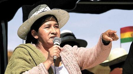 Falleció Silvia Lazarte líder indígena y que fuera Presidenta de la Asamblea Constituyente