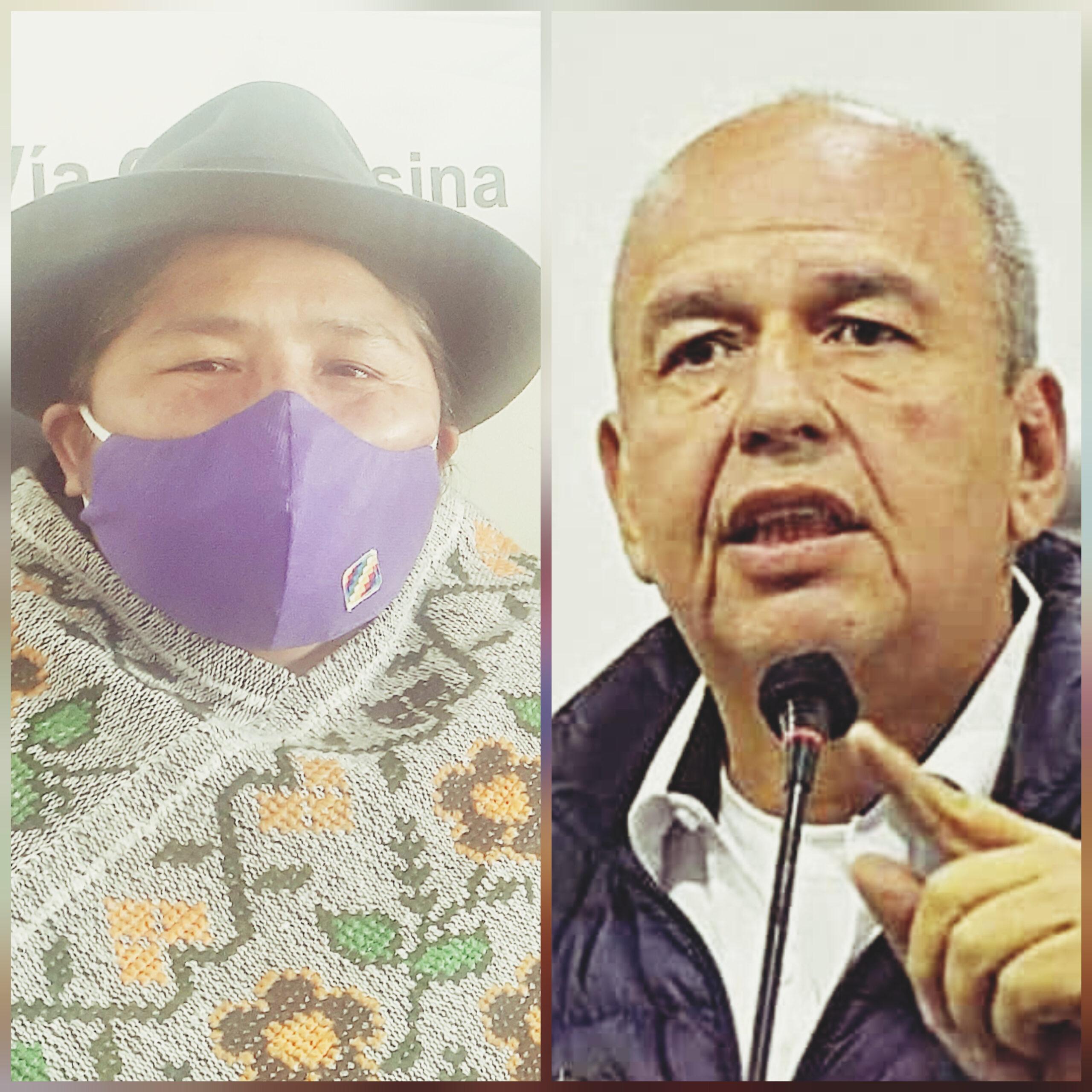 """Segundina Flores :  """"Señor Murillo preocupese por resolver el desabastecimiento del gas y no si estamos contagiados cuando es una mentira"""""""