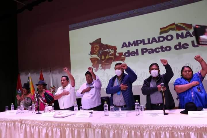 El Pacto de Unidad pidieron a Arce Catacora y Choquehuanca que Gobiernen escuchando al pueblo y que reconduzcan el proceso de cambio sin traidores