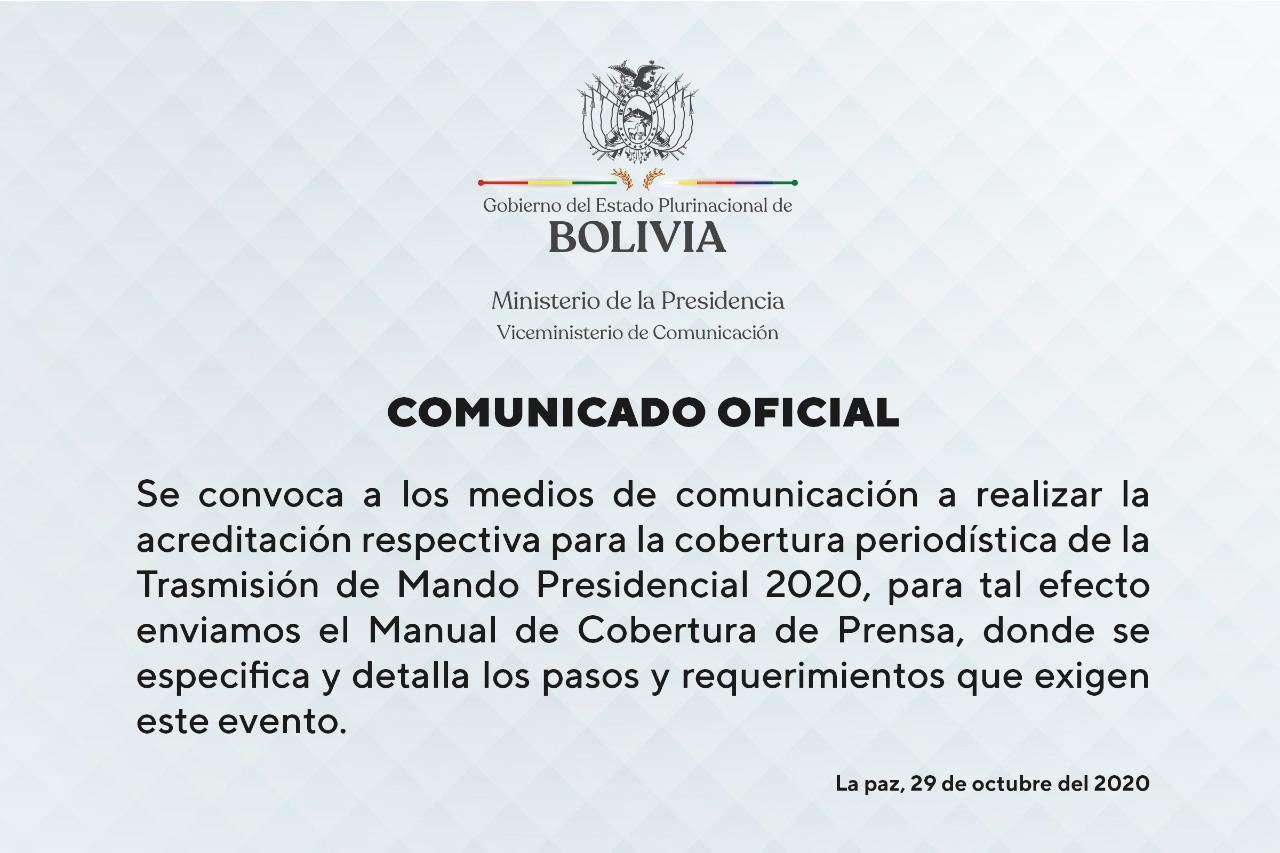 Encargados de la transmisión de mando exigirán a los periodistas prueba rápido de COV- 19 si quieren hacer cobertura