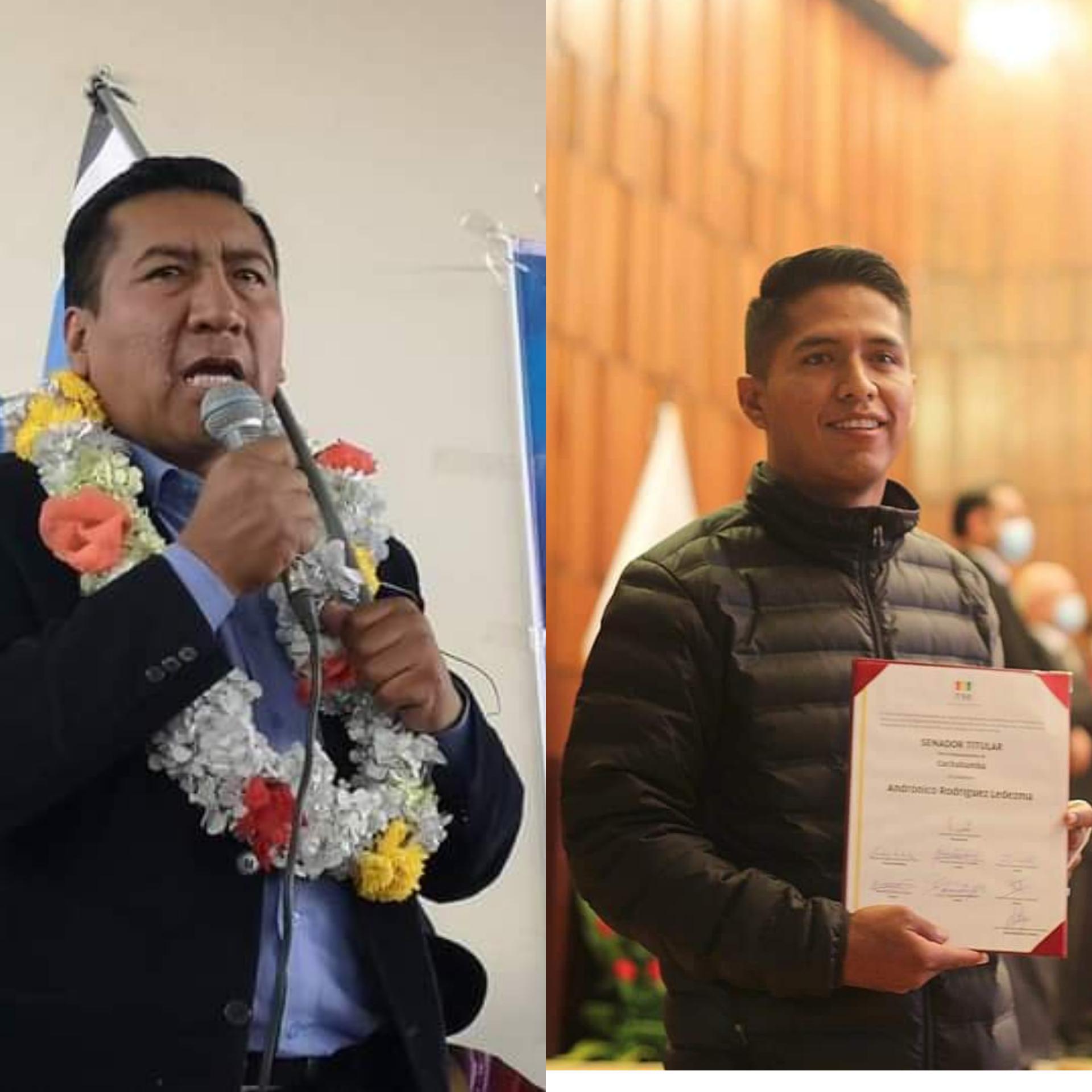 Andronico Rodriguez sera el próximo Presidente de la Cámara de Senadores y Freddy Mamani de la Cámara Baja