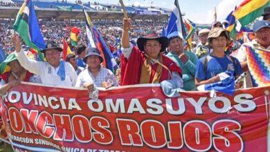 Photo of Los Ponchos Rojos resguardaran plaza Murillo durante los actos de transmisión de mando de Luis Arce Catacora y David Choquehuanca