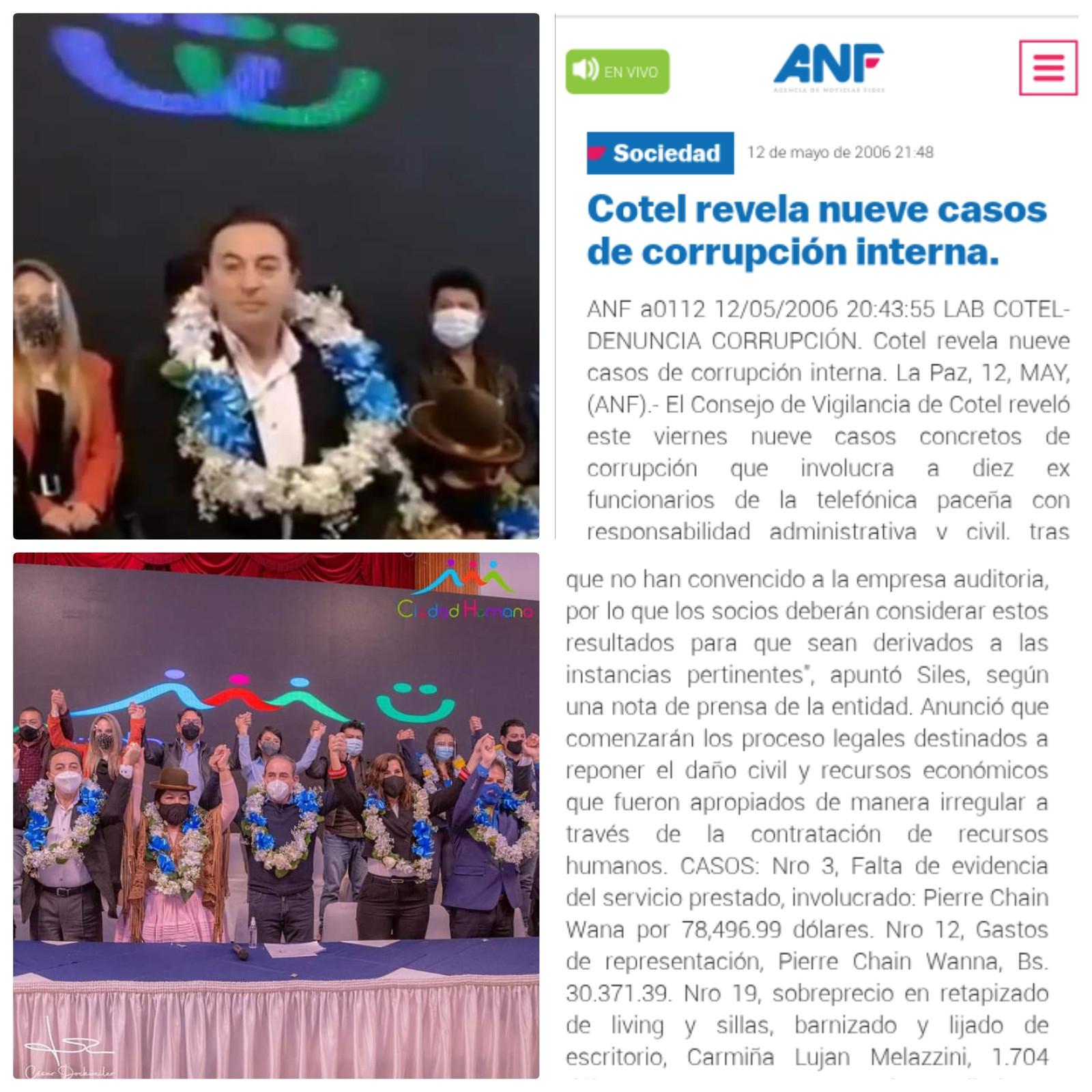 Pierre Chain involucrado en caso de corrupción en cotel aparece en las listas de candidato a concejal por el MAS