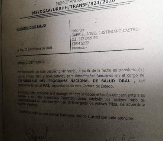 Photo of Involucrado en la quema del Tribunal Departamental Electoral de Santa Cruz es designado como responsable del programa Salud Oral dependiente del Ministerio