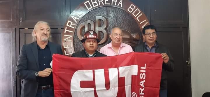 La COB y la CUT del Brasil sellan alianza de cooperación en beneficio de la clase trabajadora