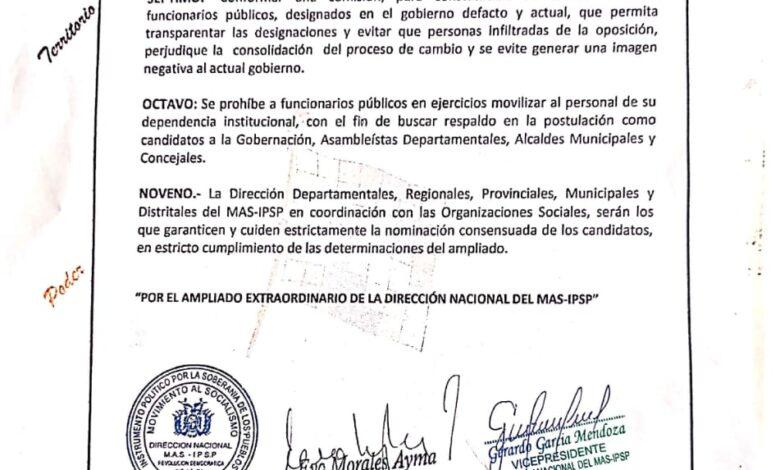 Photo of El MAS-IPSP conforma una comisión para verificar currículum de personal en  Ministerios, Empresas Desentralizadas y detectar a los infiltrados