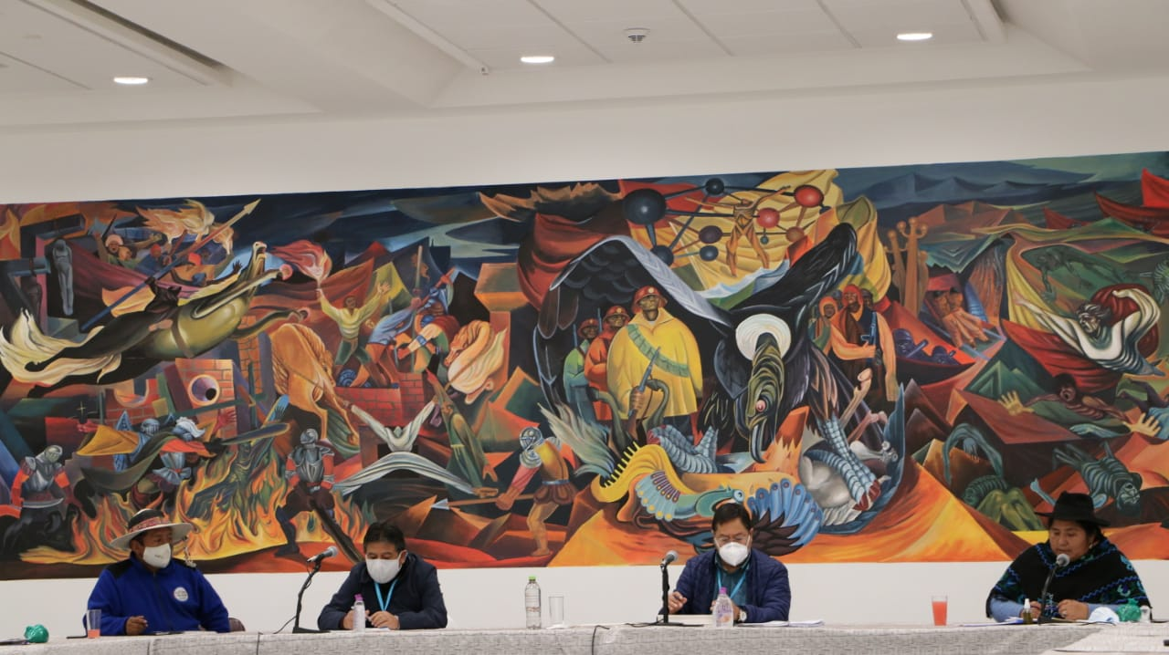 El Presidente Luis Arce Catacora priorizará la atención de programas productivos y educativos de las Mujeres Campesinas Bartolina Sisa
