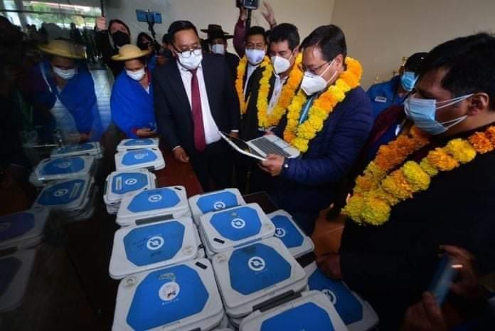 Presidente Luis Arce Catacora anunció el potenciamiento de los quipus para distribuir a los maestros y estudiantes