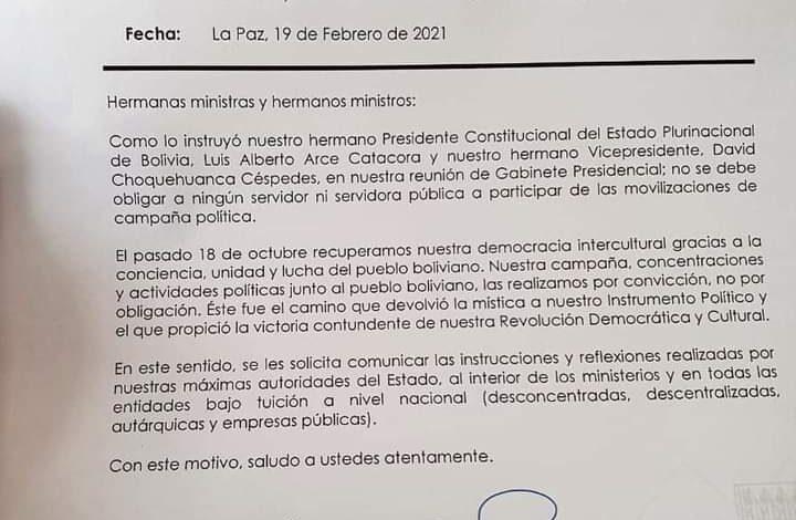 Photo of La Ministra Prada instruye a que no se obligue a funcionarios a participar en campañas electorales deben hacerlo por convicción