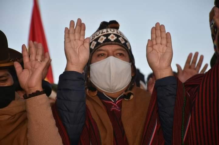 Choquehuanca pidió volver al camino de la hermandad y unidad al recibir el año nuevo andino amazónico y del chaco 5.529