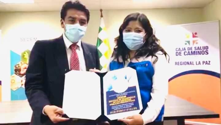 SEDEM recibe reconocimiento ¨Empresa Segura Contra el Covid-19¨ de la Caja de Salud de Caminos