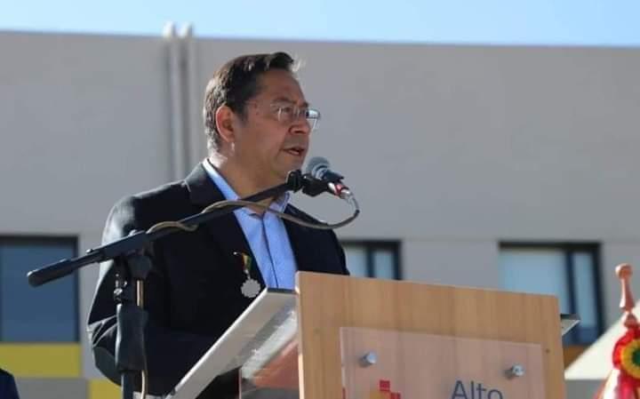 "Presidente Luis Arce Catacora dijo: ""No vamos a permitir que la derecha avance ni un solo centímetro"""