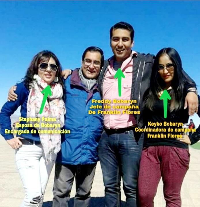 El Viceministro Freddy Bobaryn tiene un clan familiar trabajando en el Gobierno de Luis Arce Catacora